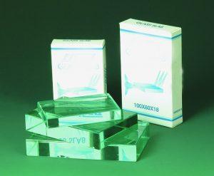 Prism - Clear Glass Rectangular Block   75x50x12mm
